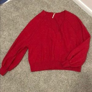 FREE PEOPLE XS Red Sweater